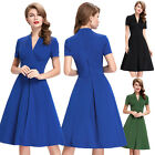 New Womens Vintage 1950s STYLE Swing Circle Retro Evening Party Dress