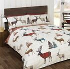 STAG FLANNELETTE DUVET COVERS QUILT SETS TARTAN CHECK BRUSHED COTTON