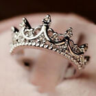 Women's Fine Fashion Crown Ring Silver Plated Jewelry Punk Jewelry Rings Gift TB