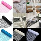 """12""""x10Y Vintage Lace Roll Fabric Tulle Table Runner Chair Sash Wedding Decor"""