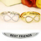 Women New Vogue Gold Silver Plated Infinity Symbol Vintage Finger Ring Jewelry S