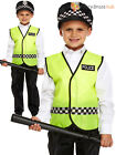 Childs Policeman Fancy Dress Costume Boy Police Constable Cop Outfit Kid Uniform