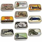Vintage Car Adverts Slim Hinged 1oz Tin Tobacco Storage Choose Your Design