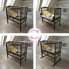 Wooden baby cot 4in1 white, wheels, cradle, bedside bed CO SLEEPER + mattress