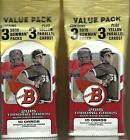 (2) 2015 Topps BOWMAN Baseball New, Sealed 33ct. VALUE Pack LOT - Prospect Autos