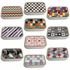 Patchwork Slim Hinged 1oz Tin Tobacco Storage Choose Your Design
