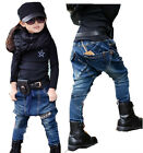 New Toddlers Kids Fashion 100% Cotton Casual Collapse Jeans Pants 3-8 Y P166