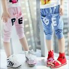 Kids Toddlers Boys Girls BE Letters Pockets Capri Collapse Pants 3-8 Y P253
