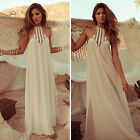 Sexy Womens Summer Beach Lace Crochet Maxi Dress Casual Party Chiffon Sundress