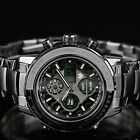 INFANTRY MENS DIGITAL QUARTZ WRIST WATCH CHRONOGRAPH PILOT ARMY STAINLESS STEEL
