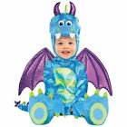 Baby Girls Boys Childs Little Dragon Blue Monster Fancy Dress Halloween Costume