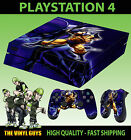 PS4 PLAYSTATION 4 CONSOLE STICKER WOLVERINE LOGAN X MEN SKIN + 2 PAD SKINS