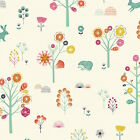 SUMMER FOREST - NATURE TRAIL by DASHWOOD 100% COTTON FABRIC hedgehogs rabbits