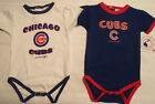 GENUINE MERCHANDISE Chicago Cubs Blue or White Bodysuit NWT 18 6 9 Month Choice