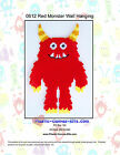 Red  Monster Wall Hanging-Plastic Canvas Pattern or Kit