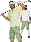 Mens Gone Golfing Costume Adults Pub Golf Fancy Dress Golfer Stag Party Outfit