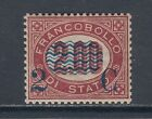 Italy Sc 42 MLH. 1877 2c surcharge on 2l lake Official