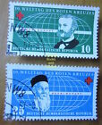 EBS East Germany DDR 1957 World Red Cross Day Rotes Kreuz Michel 572-573 CTO