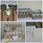 Pretty shabby chic wooden wedding card crate post box flower table arrangement