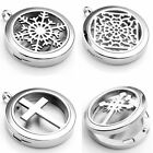 Stainless Steel Aromatherapy Essential Oil Diffuser Locket Pendant Necklace Gift