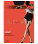 OMSA TIGHTS COLLANT PANTYHOSE SUPER 20 DEN VELATO ELASTICIZZATO NERO E CARAMELLO