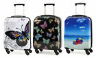 Rock Miro Printed Hardshell 55cm Ryanair Compliant 4Wheel Spinner Case Butterfly