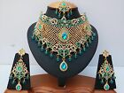 Indian Bollywood Style Fashion Gold Plated Bridal Jewelry Necklace Set  Style 2