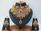 Indian Bollywood Style Fashion Gold Plated Bridal Jewelry Necklace Set, Style 2