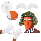 ADULTS GREEN WIG CHOCOLATE FACTORY WORKER FILM BOOK FANCY DRESS ADD PAINT