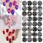 72 Style Nail Stamp Plate Round Resuable Manicure Steel Template Tip Decal hehe