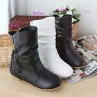 Fashion Women's Ankle Boots Comfort Side Tassels Flat Heel Shoes AU All Sz TB746