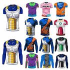 Men Dragon Ball Goku Vegeta 3D Short/Long T-Shirts Sleeve Cycling Super Saiyan