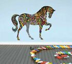 Rainbow Flower Horse Wall Stickers Kids Nursery Decor Vinyl Decal Art Mural Gift