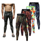 Men Compression Leggings Long Tight Pants Trousers Running Fitness Gym Workout