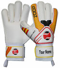 Goalkeeper Flat Roll Finger Saver Goalie Gloves Color Yellow/Black/Red