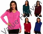 Ladies Ex Marks & Spencer Cardigan Bobble Buttoned Blue Burgundy Pink Green Red