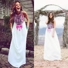 2016 Women Sexy Summer Boho Long Maxi Evening Party Dress Beach Dresses Sundress