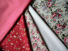 QUALITY JAPANESE QUILTING, CRAFT COTTON FABRIC, F/Q, PINK,CREAM / FLORAL, CHINTZ