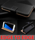 Genuine Real Leather Wallet stand case For Samsung Galaxy S7 & S7 Edge