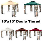 Color Option 10'x10' Gazebo Canopy 2 Tier Top Cover Replacement Outdoor Backyard