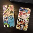Cartoon cute Disney collection Silk Relief case cover for apple iphone 6 6S plus