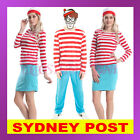 Ladies Wheres Wally Costume 80s Wenda Womens Cartoon Where's Wally Fancy Dress