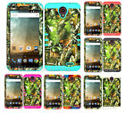 KoolKase Hybrid Silicone Cover Case for ZTE Avid Plus Z828 - Camo Mossy 10