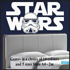 Large Starwars Bedroom wall art sticker of Logo Stormtrooper Head Transfer Vinyl