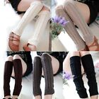 Women Ladies Winter Warm Leg Warmers Cable Knit Knitted Crochet Socks Legging