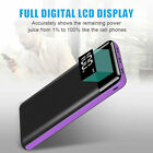 500000mAh 3USB Portable External Battery Charger Solar Power Bank For Phone US