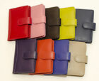 New Full  Leather Button Credit/Store Cards Holder/Wallet Black/Pink/Blue/Red