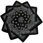 Hoodboyz Single-color Pack 10 Pcs Herren Bandana Schwarz Grau(83371)