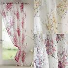 """TOKYO BLOSSOM FLORAL VOILE CURTAIN PANEL READY MADE NET CURTAIN 54"""" 72"""" 90"""""""