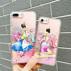 Cartoon Disney princess Glitter Quicksand clear case cover for iphone 7 6S plus